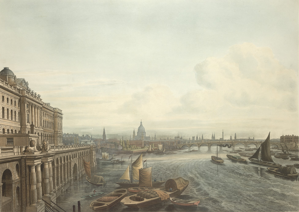 A South View of Somerset House from Waterloo Bridge